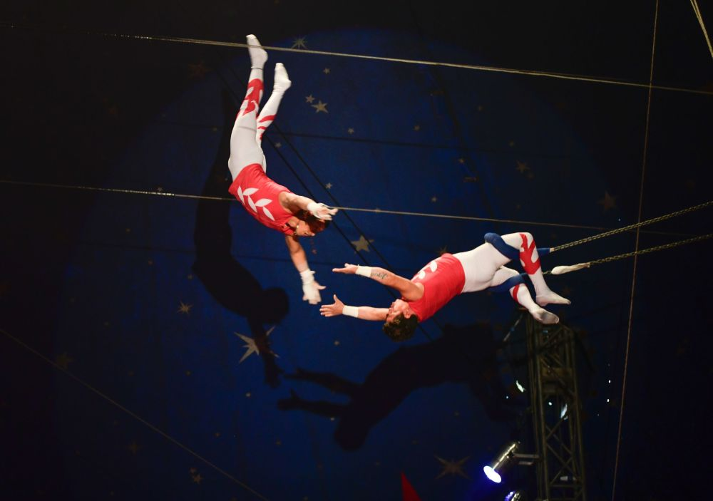 Hermanos Rodriguez flying trapeze Santus Circus 2019